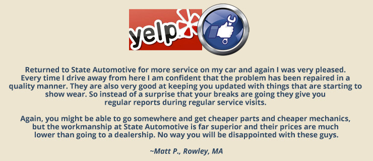 YELP Review State Automotive